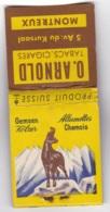 Pochette Allumettes O. ARNOLD Tabacs-cigares Montreux SUISSE - Boites D'allumettes