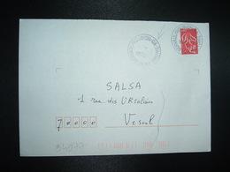 LETTRE TP M. DE LAMOUCHE TVP ROUGE OBL.27-4 2007 26 ST GERVAIS ) ROUBION GA DROME (GUICHET ANNEXE) - Marcophilie (Lettres)