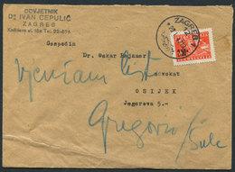 6.Yugoslavia 1947 Letter Zagreb-Osijek - 1945-1992 Socialist Federal Republic Of Yugoslavia