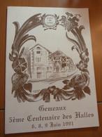1491-1991. Gémeaux. 5ème Centenaire Des Halles. Côte D'Or - Livres, BD, Revues