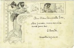 Illustrateur : Art Nouveau. Femme. - Künstlerkarten