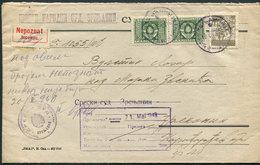 19.Yugoslavia 1948 Letter Loco Zrenjanin Official Stamp - 1945-1992 République Fédérative Populaire De Yougoslavie