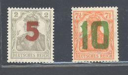 Poland - 1919 Postal Stamps For Poznan Mint Hinged Michel No. 135-6 - ....-1919 Gouvernement Provisoire