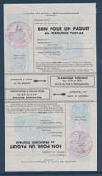BON POUR UN PAQUET En FRANCHISE POSTALE En PAIRE TETE-BECHE NEUF ** Avec CACHET MILITAIRE ROUGE BASE AÉRIENNE 123 - Franchigia Militare (francobolli)