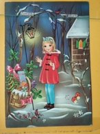 KOV 8-171 - NEW YEAR, Bonne Annee, Children, Enfant, Petite Fille, Champignon, Mushroom - Nouvel An