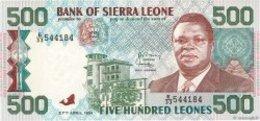 BILLET  SIERRA LEONE 500 LEONES - Sierra Leone