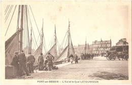 Dépt 14 - PORT-EN-BESSIN - L'Épi Et Le Quai LETOURNEUR - (Phot. Combier - Mâcon) - Port-en-Bessin-Huppain