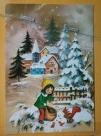 KOV 8-172 - NEW YEAR, Bonne Annee, Children, Enfant, Squirrel, écureuil - Nouvel An