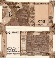 INDIA       10 Rupees       P-109h       2018       UNC  [ Sign. Patel - Letter R ] - Indien