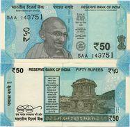 INDIA       50 Rupees       P-111b       2017       UNC  [ Sign. Patel - Letter L ] - Indien