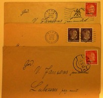1943 LATVIJA RIGA  Paststamps 3 Covers - Lettonie