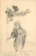 -ref C37- Guerre 1939-45 -carte Dessinée St Geneviève - Lucifer - Diable - Ravitaillement De Paris - Illustrateur 1942 - - Guerre 1939-45