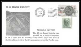 5039/ Espace (space) Lettre (cover) 22/1/1968 Apollo 5 Lm Test Us Moon Project USA - Briefe U. Dokumente