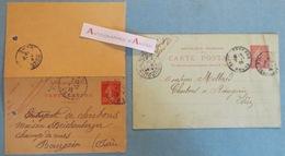Lot 2 Entiers Postaux > BOURGOIN Jallieu (Isère) - 1906 & 1915 - Streichenberger - Charbons - Guillot Cotte - Mollard - Entiers Postaux