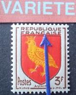 R1949/1462 - 1954 - BLASON De L'AUNIS - N°1004 NEUF** - VARIETE ➤➤➤ Décalage Du Rouge Vers Le Haut - Abarten Und Kuriositäten