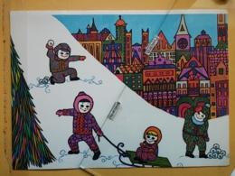 KOV 8-173 - NEW YEAR, Bonne Annee, Children, Enfant, WINTER SPORT, UNICEF, - Nouvel An