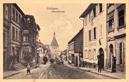 ENDINGEN - HAUPTSTRASSE : HOTEL HIRSCHEN - POST / KAISERL' BRUST-CARAMELLEN ... - ANNÉE / YEAR ~ 1910 - '915 (ad527) - Endingen