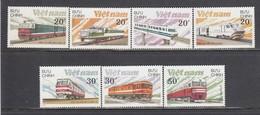 Vietnam 1988 - Trains, Mi-Nr. 1966/72, Perf., MNH** - Vietnam