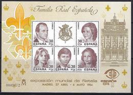 Spain - Spanish Royal Family - SPAIN 1984 World Philatelic Exposition - Madrid - Blocs & Hojas
