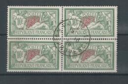 Timbres  N° 207 En Bloc De 4  Oblitéré  COB   YT  68€ - Francia