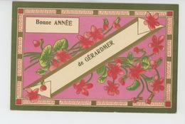 "GERARDMER - Jolie Carte Gaufrée Avec Dorures Fleurs ""Bonne Année De GERARDMER "" (embossed Postcard) - Gerardmer"