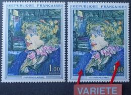 R1949/1465 - 1964 - TOULOUSE-LAUTREC - N°1426 NEUF** - VARIETE ➤➤➤ Blouse Bleu Pâle Et Bleu Foncé - Variétés: 1960-69 Neufs