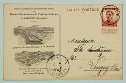 Carte Postale Juillet 1914 Charbonnages Roton Farciennes, Tamines --> Longwy, Affr. 10c Albert 1er - 1915-1920 Albert I