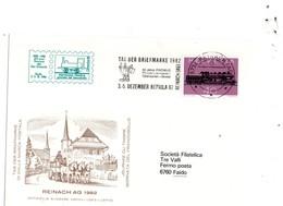 B - 1982 Svizzera - Giornata Del Francobollo A Reinach - Storia Postale