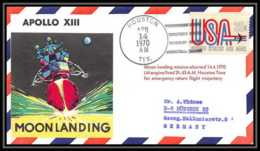 5582/ Espace (space) Lettre (cover) 14/4/1970 Apollo 13 Moon Landing USA - Briefe U. Dokumente