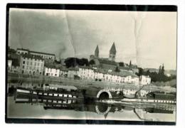"""Photo 9 X 12.5 Cm - Bateau à Vapeur & à Aube """"Le Parisien"""" N° 2 Sur La Saône à Tournus, Quai Nord (cheminée Inclinée) - Barche"""