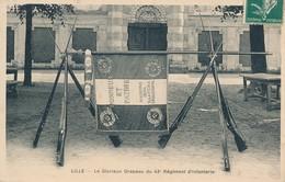 Lille Le Glorieux Drapeau Du 43 Eme RI Peu Commun TBE - Lille
