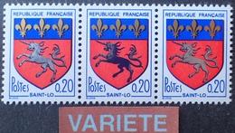 R1949/1469 - 1966 - BLASON DE SAINT LO - N°1510 NEUFS** - SUPERBE VARIETE ➤➤➤ Licorne Noire Et Argentée - Variétés Et Curiosités