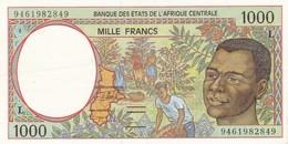 Billet De 1000 Francs  Gabon -  Etat Tres Proche Du Neuf - Gabon