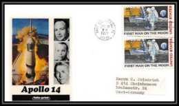 5883/ Espace (space) Lettre (cover) 31/1/1971 Apollo 14 Folio Print USA - Etats-Unis