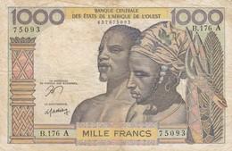 Billet De 1000 Francs  Cote D'ivoire  - - Elfenbeinküste (Côte D'Ivoire)