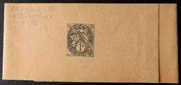 Bande Journal 1c Blanc - Date: 802 - Biglietto Postale