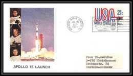 5947/ Espace (space) Lettre (cover) 26/7/1971 Apollo 15 Launch  USA - Etats-Unis