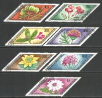 Mongolia 1975 Used Stamps CTO Flowers - Mongolia