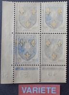 R1949/1470 - 1958 - BLASON DE LA SAINTONGE - N°1005 BLOC NEUF** CdF Daté - VARIETE ➤➤➤ Impression RECTO VERSO Partielle - Variétés Et Curiosités