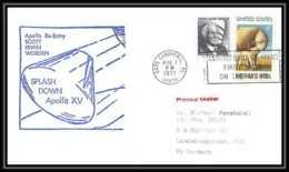 6002/ Espace (space Raumfahrt) Lettre (cover Briefe) 7/8/1971 Apollo 15 Splashdown Re Entry USA - Briefe U. Dokumente