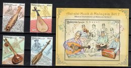 MALAYSIA, 2018, MNH, MUSIC ,MUSICAL INSRUMENTS, 4v+ S/SHEET - Musique