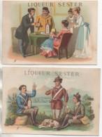 10 TROYES Lot De 2 Chromos Liqueur Sester à Troyes - Troyes