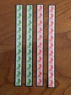 LOT De 4 BANDES DE 11 ROULETTES LIBERTÉ - 1.60F/1.80F Et 1.40F/1.60F - Y&T 2191/2192 Et 2222/2223 - 1982 - Neuf ** - Roulettes