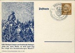 49940 Germany Reich.stationery Card 1937 Prenzlau,  Prenzglauer Briefmarken Werb. - Briefe U. Dokumente