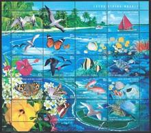 1999 Cocos (Keeling) Islands Wildlife: Birds, Marine Life, Butterflies, Flowers Minisheet (** / MNH / UMM) - Marine Life