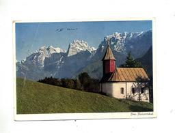 Carte Eglise Kaisertal Flamme Garmisch Liei Jeu Olympique Sur Hitler - Deutschland