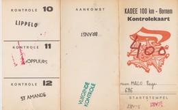 Bornem Kadee 100 Km, Kontrolkaart. - Athlétisme