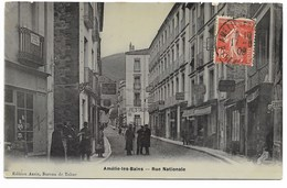 66-AMELIE-LES-BAINS-Rue Nationale...1906  Animé - Autres Communes