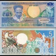 BILLET  SURINAM 5 GULDEN - Surinam