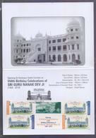 PAKISTAN 2019 - GOLD FOIL PHILATELIC FOLDER On 55th Birthday Celebration Of Sri Guru Nanak Dev Ji, Stamp Set Affixed Wit - Pakistan